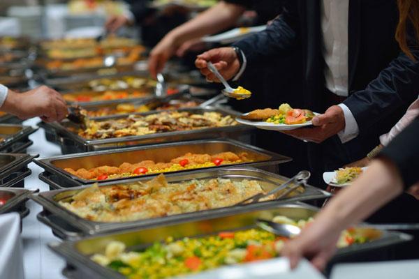 JHH-Buffet mit Küchenparty